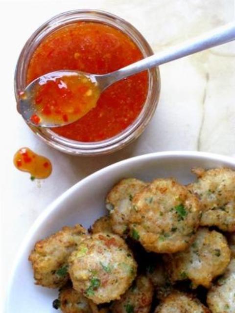 Sweet chilli Thai fishcakes
