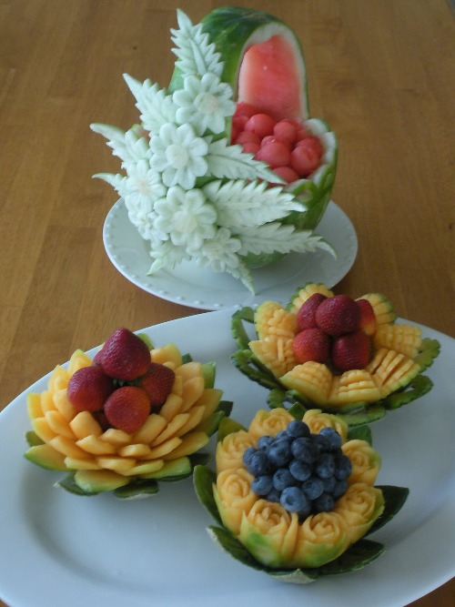 thai carved fruit