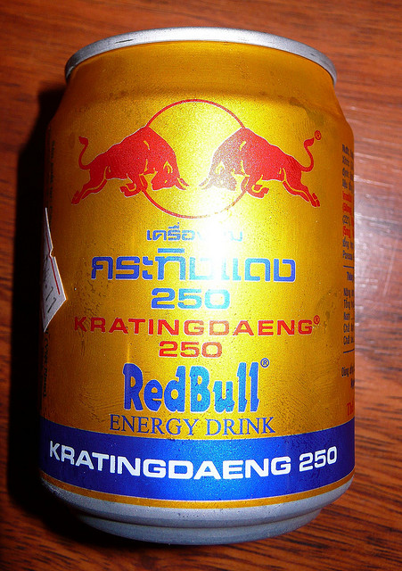 Thai Red Bull, Thai Beverages, Thai Drink, Thai Popular Drink