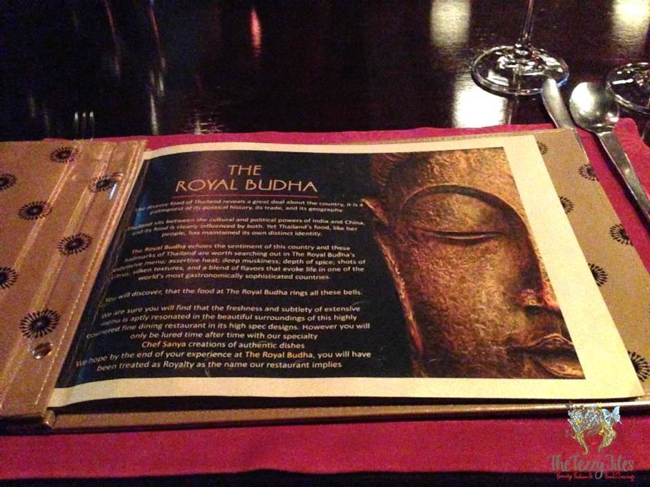the royal budha menu