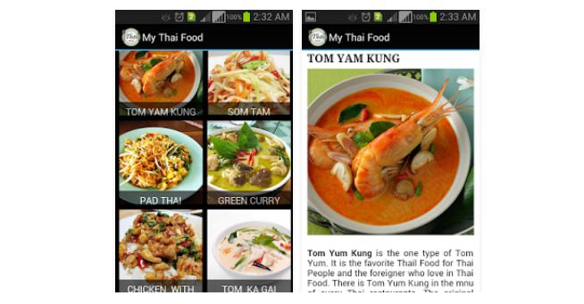 My Thai Food Apps